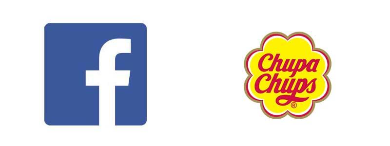 Logotypy - Facebook i Chupa Chups