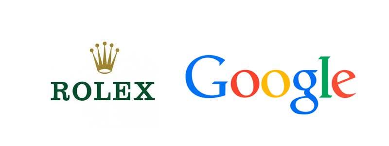 Loga marek: Rolex i Google