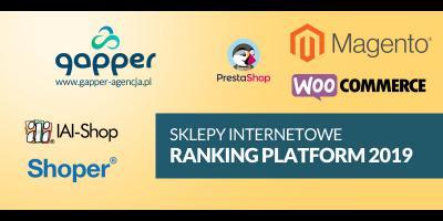 Sklepy internetowe ranking platform ecommerce 2019