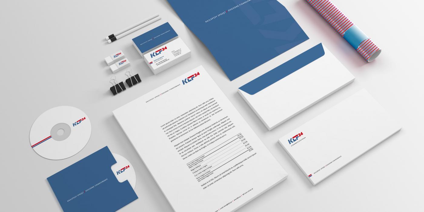 projekt elementów identyfikacji dla firmy finansowej