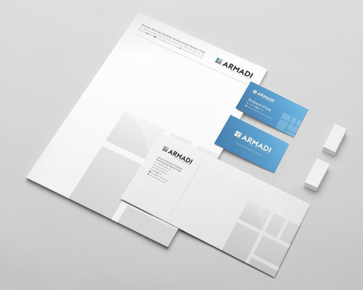 projekt elementów identyfikacji dla firmy meblowej