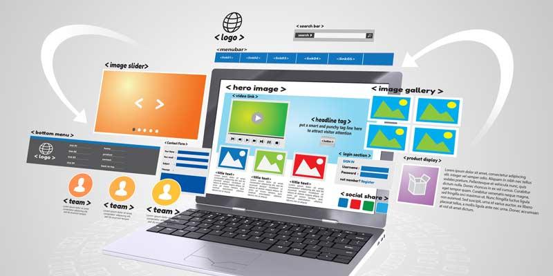 Układ strony internetowej firmowej